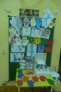 Выставка детских работ 5 гр. Зимушка-зима